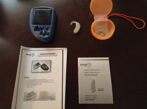Solar Powered Hearing Aid Battery